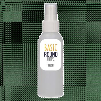 100 ml bottle Basic Round HDPE natural + Spray pump PP white