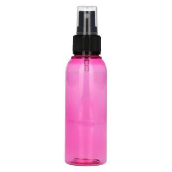 100 ml Basic Round PET pink + spray pump black