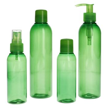 Basic Round Bottle PET Green