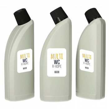 Recycled Multi WC bottles HDPE