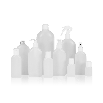 Basic Oval Bottle HDPE Natural