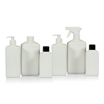 Recycled Standard Square bottles HDPE