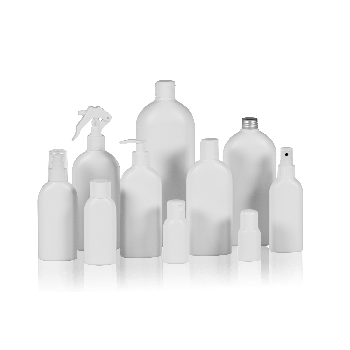 Basic Oval Bottle HDPE White
